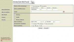 Internetowy System Aktów Prawnych © 2008 Kancelaria Sejmu