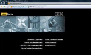 IBM Lotus Domino na stronach ISIP