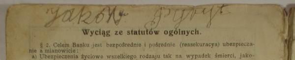 Własnoręczny podpis Jakóba Pyryta