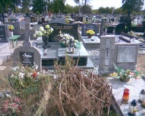Puste miejsce po grobie Marii Bakalarczyk