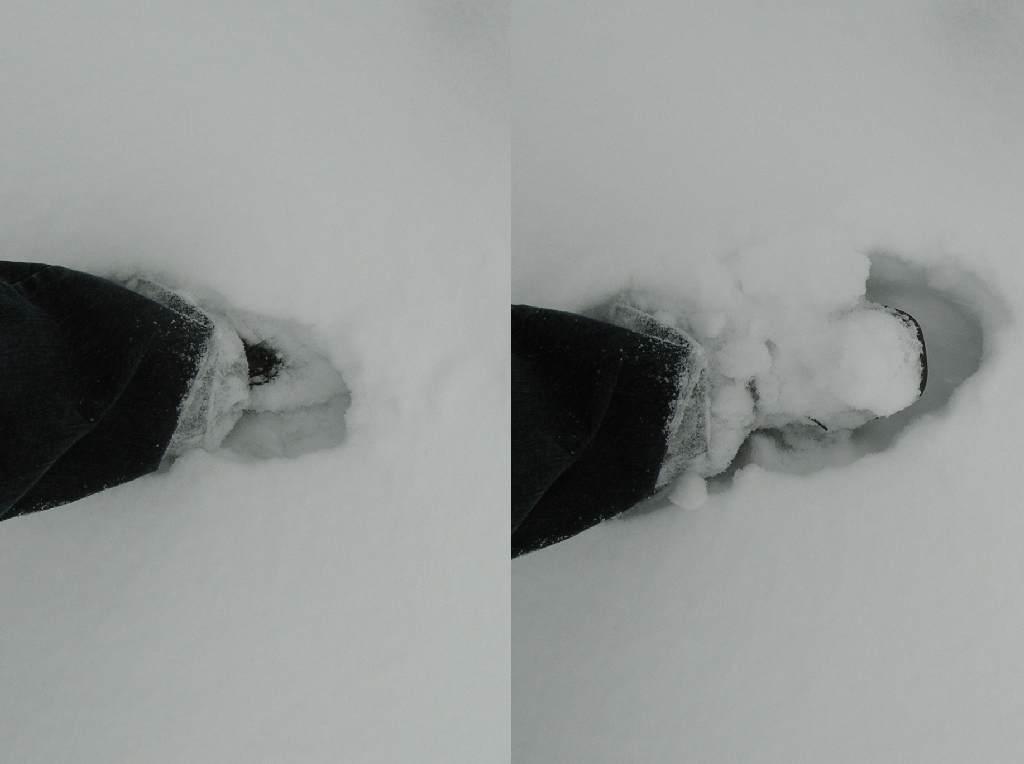 Zatopiony w śniegu