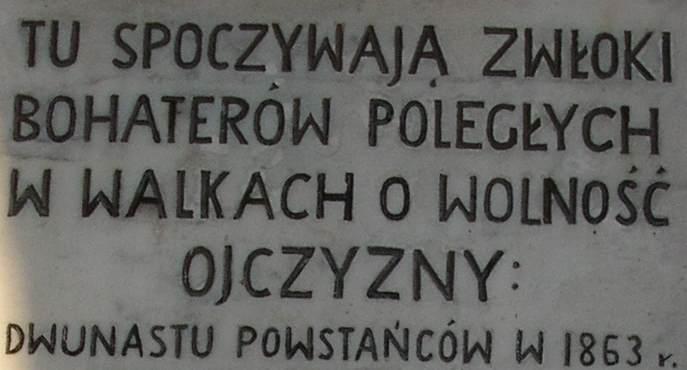 Ciała dwunastu powstańców leżą w Praszce