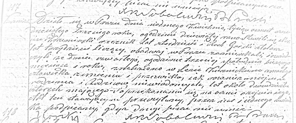 Metryka zgonu jednej z ofiar bitwy pod Praszką