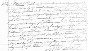 Akt zgonu Jana Kalinowskiego (ASC Praszka 133/1848 – MR4878)