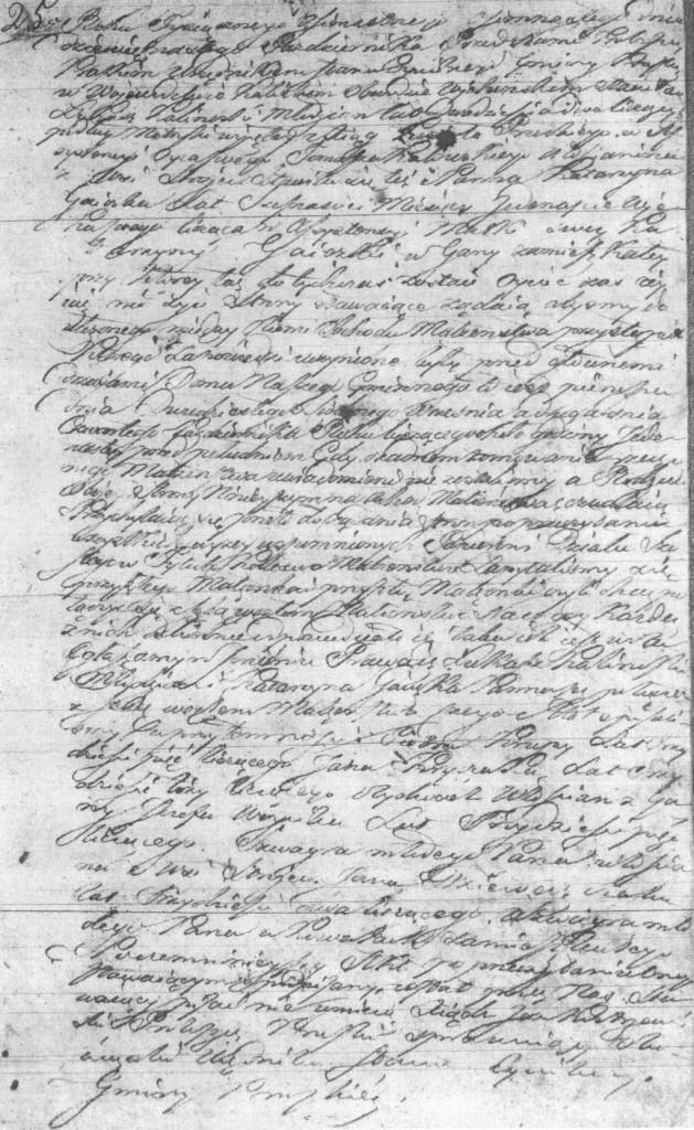 Akt małżeństwa Łukasza Kalinowskiego (ASC Praszka 25/1818 – MR6162)