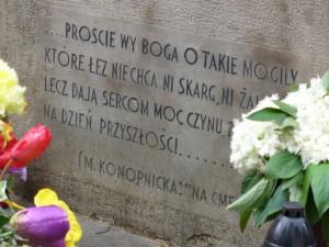 """""""Na cmentarzu"""" Marii Konopnickiej"""