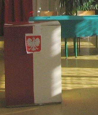 Urna wyborcza na karty do głosowania