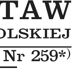 Fragment Dziennika Ustaw Rzeczypospolitej Polskiej Nr 259, ostatniego w 2010 r.