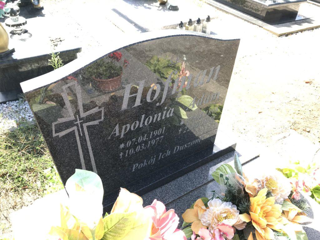 grób cioci Poli w Lipkach; fot. MR