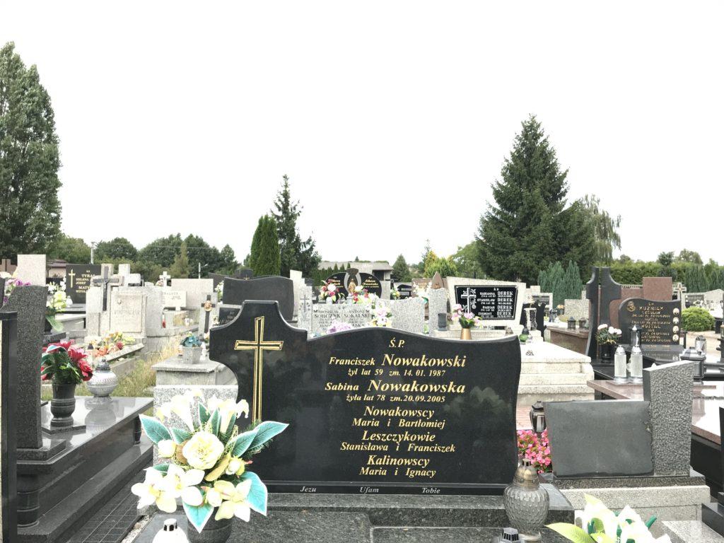 grób wujka Ignaca w Trębaczewie; fot. MR