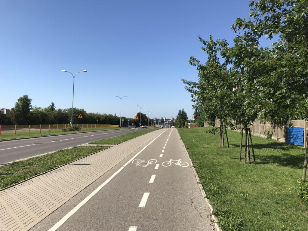 po długiej podróży, taka ścieżka rowerowa cieszy oko (fot. MR)