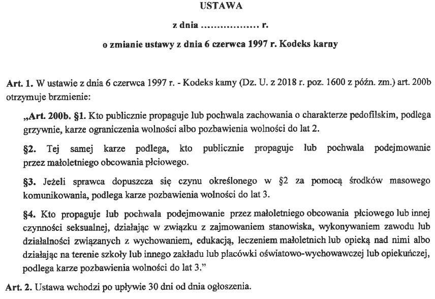projekt ustawy VIII/3751