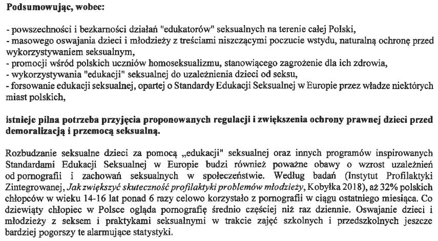 Potrzeby postulowane w pkt 1 projektu VIII/3571