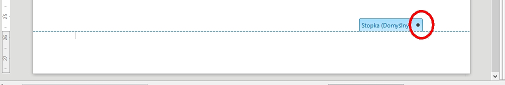 W LibreOffice Writer pierwszy sposób dodawania stopki