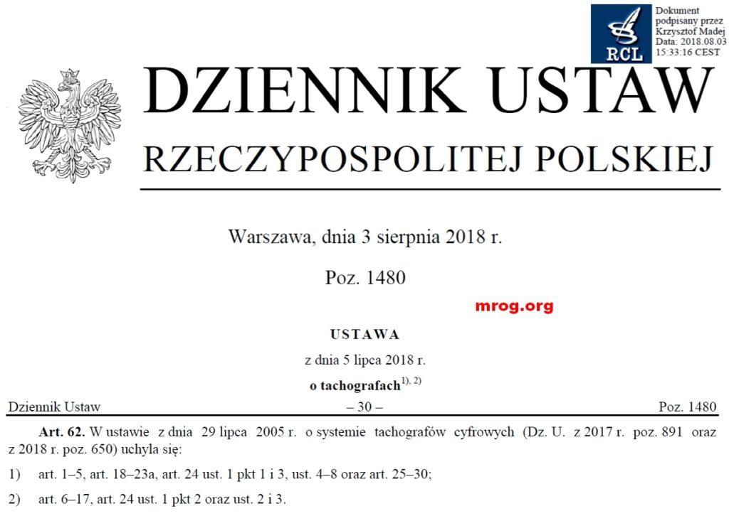 fragment Dziennik Ustaw z 2018 r. poz. 1480 art. 62